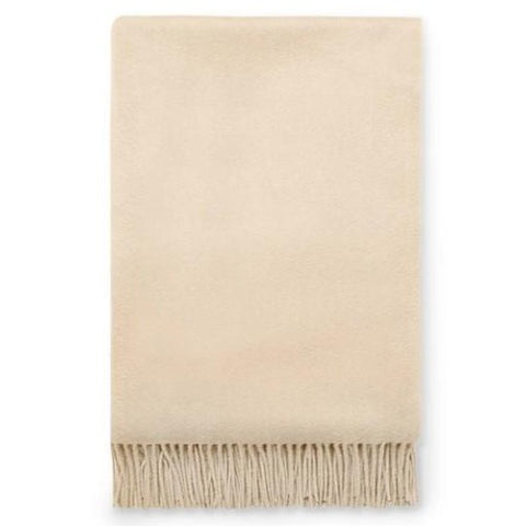 Dorsey Cashmere Throw in Champagne