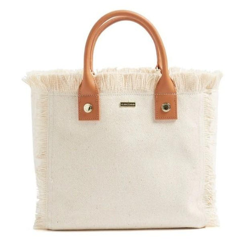 Porto Cervo Small Carryall Tote in Beige + Tan