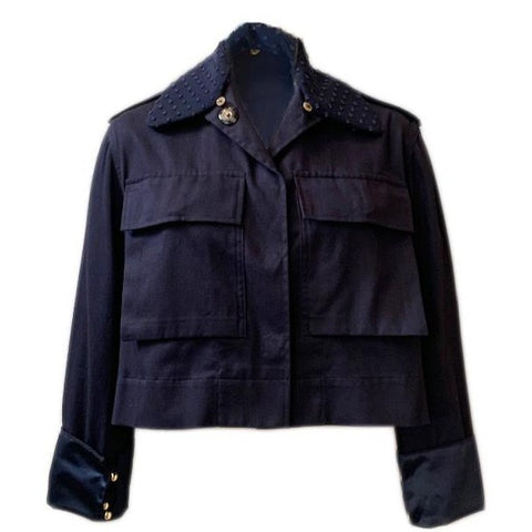 3-in-1 Collared Field Jacket in Navy