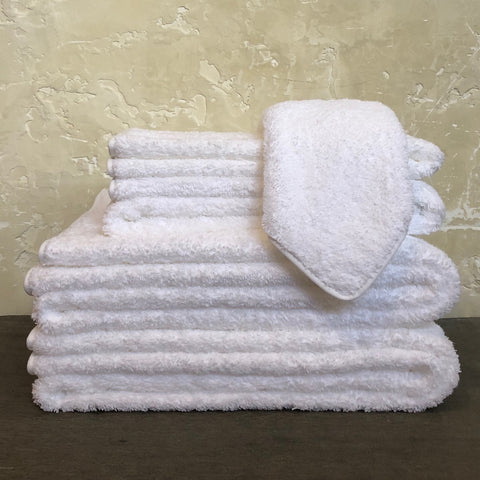 Cairo Straight Towels in White