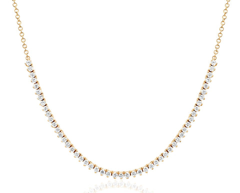 52 Prong-Set Diamond Necklace in Yellow Gold