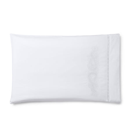 Francesca Pillowcase Pair in White