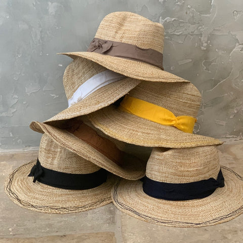 Rise n' Shine Straw Hat in Oat + Nutmeg