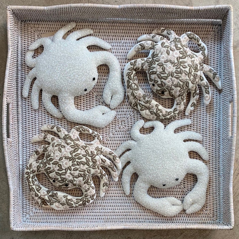 Moira Silk Velvet Crab in Ivory