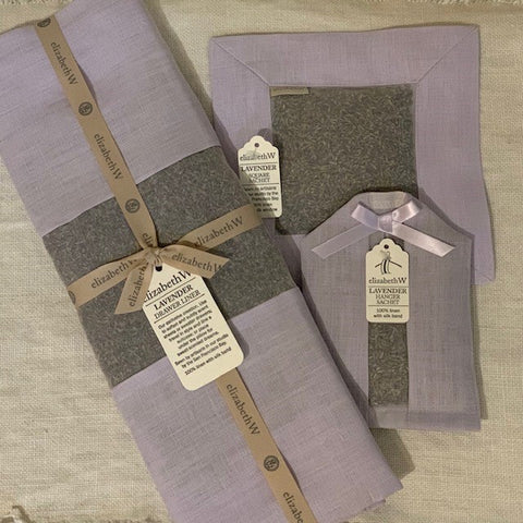Lavender Scented Purple Linen Drawer Liner