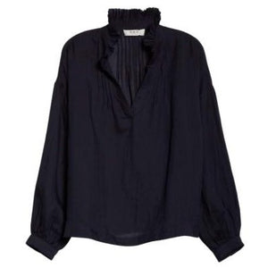 Lucy Long Sleeve Blouse in Navy
