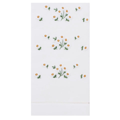 Embroidered Daisy Scatter Everyday Towel