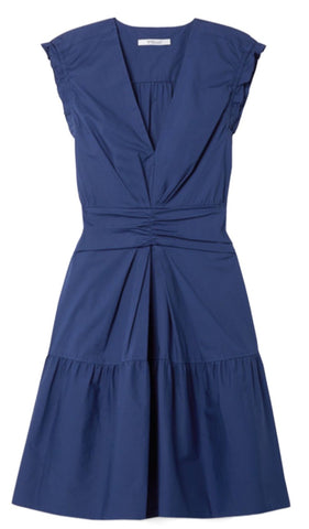 Saachi Sleeveless Dress in Deep Blue