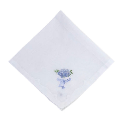 Forget Me Not Cotton Hankie