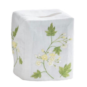 Spring Flower Tissue Box Cover in Yellow