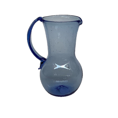 Pichet Petit Avec Anse Pitcher in Light Blue Glass