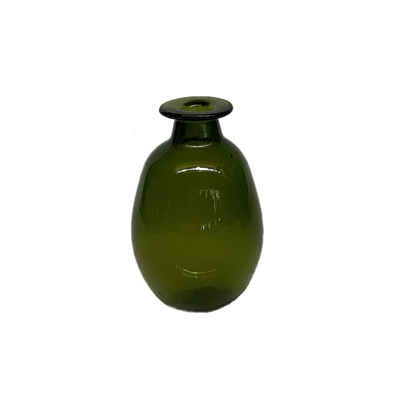Amour Vase Sans Anse in Olive Glass