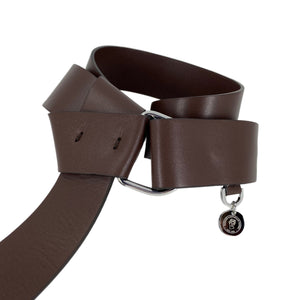 Italian Leather Belt in Chocolate