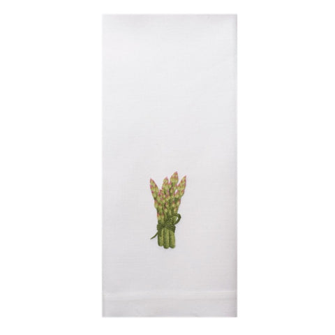 Embroidered Asparagus Everyday Towel