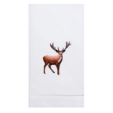 Embroidered Stag Everyday Towel