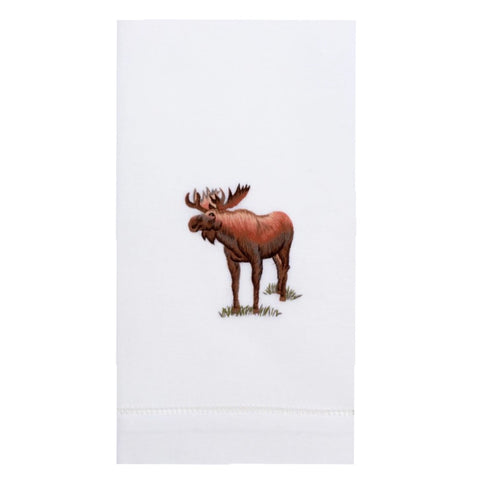 Embroidered Moose Everyday Towel