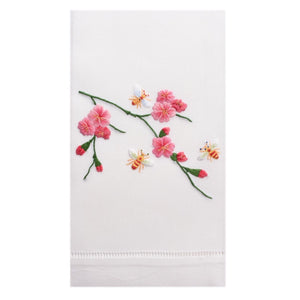 Embroidered Bees + Flowers Everyday Towel