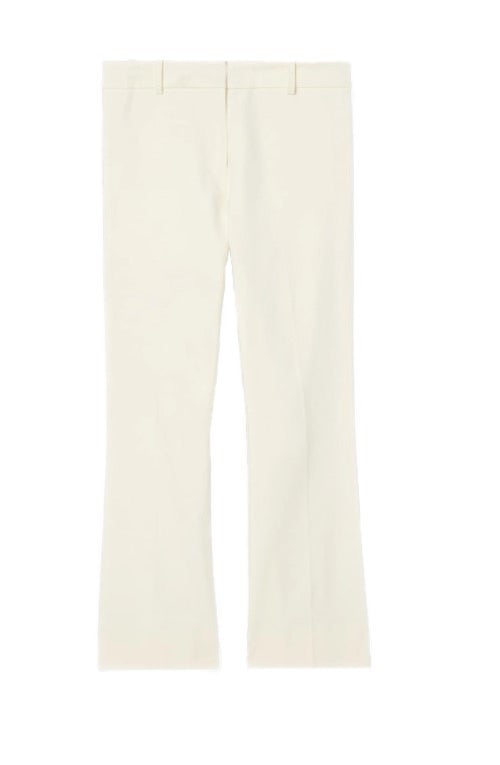 Crosby Cropped Flare Trouser in Soft White