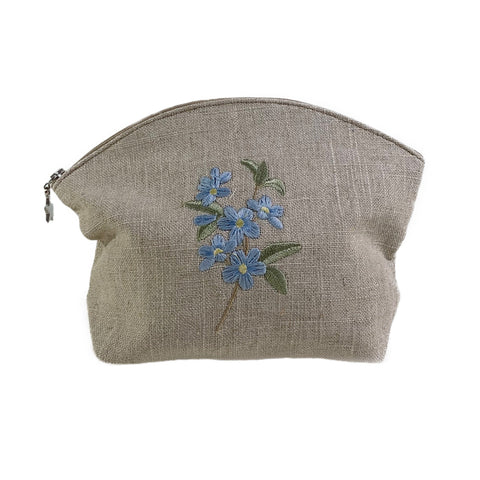 Apple Blossom Cosmetic Bag in Natural