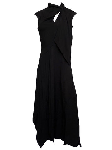 Leena Midi Dress in Noir