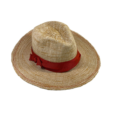 Rise n' Shine Straw Hat in Oat + Pumpkin
