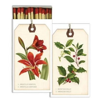 Holiday Botanical Tags Matches