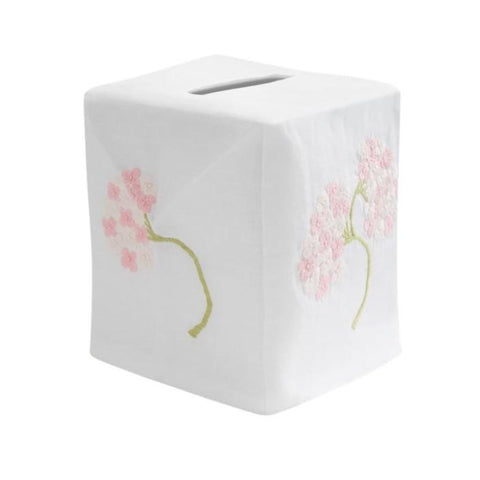 Hydrangea Tissue Box Cover in Pink
