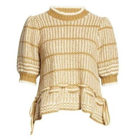 Amalia Short Sleeved Pullover in Sand