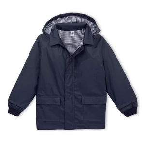 Kids Iconic Navy Blue Raincoat