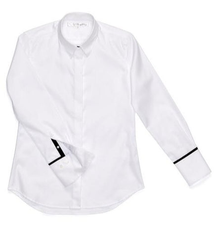 Great White Shirt with Black Ribbon