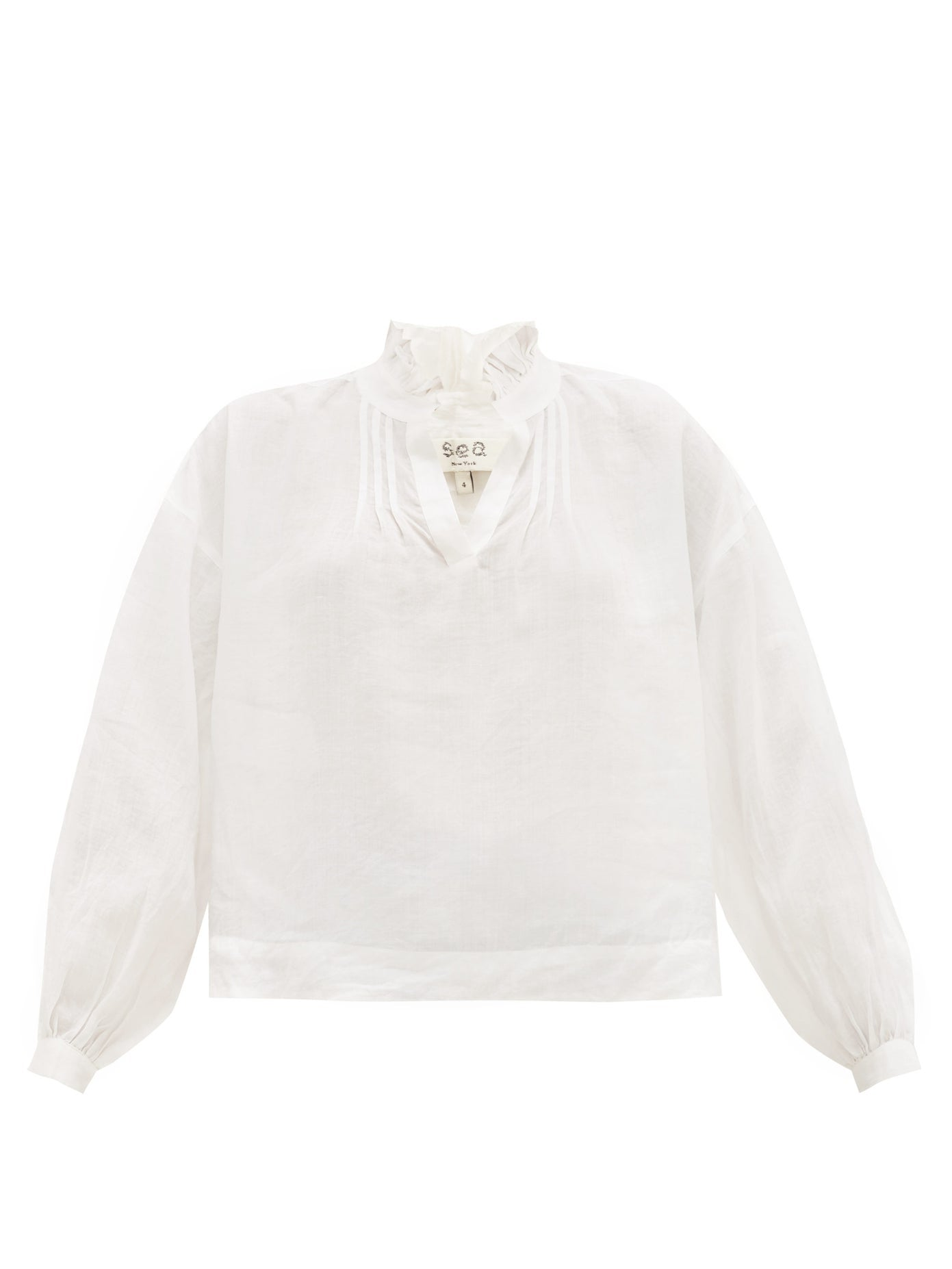 Lucy Long Sleeve Blouse in White