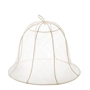 Large Ivory Round Bell Food Cover Set