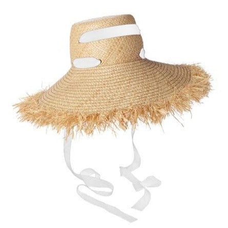 Alpargatas Raffia Hat in White