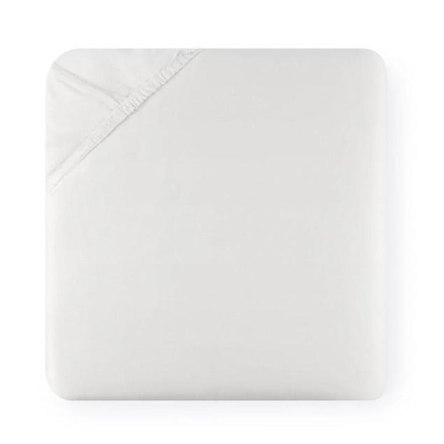 Diamante Fitted Sheet in White