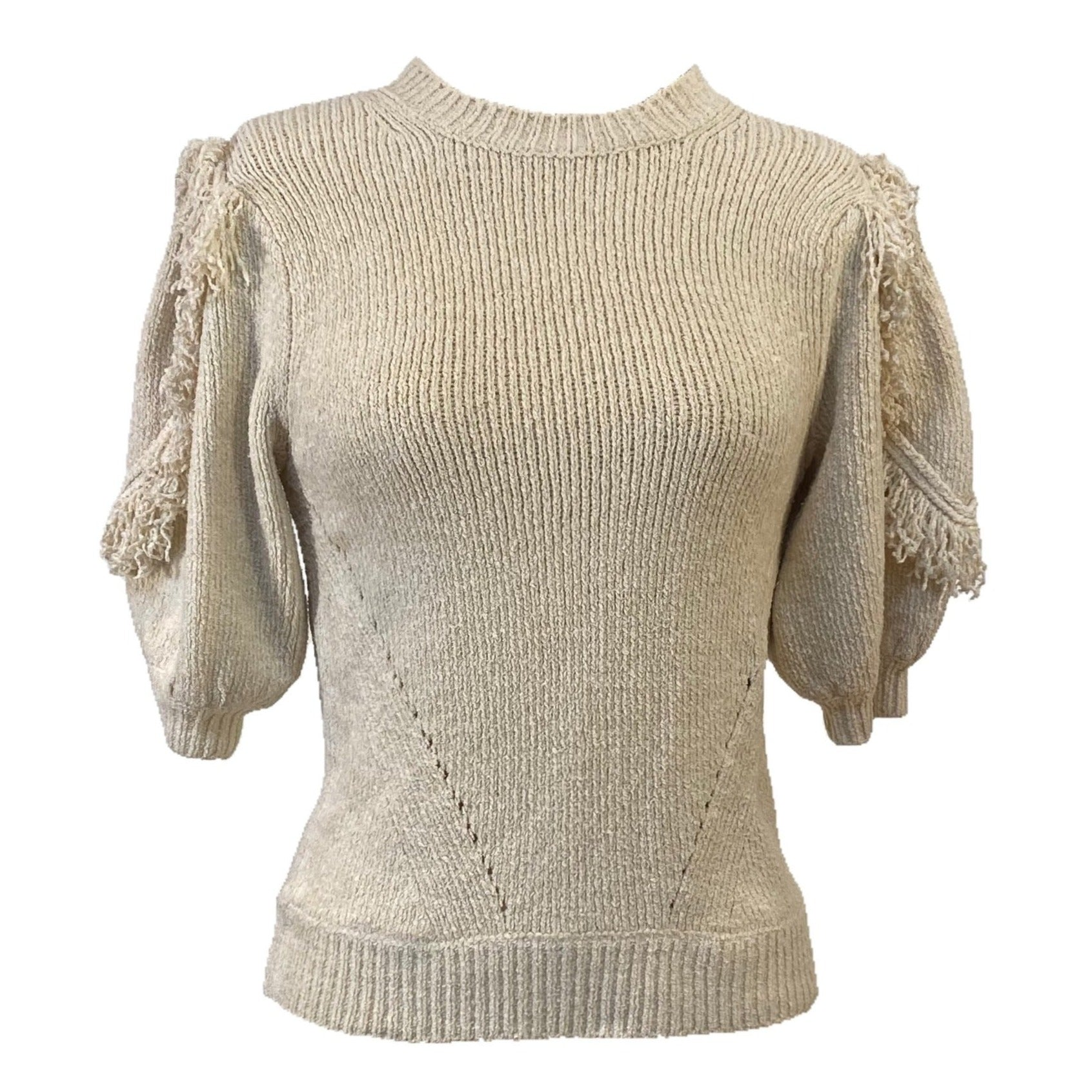 Noor Sweater Top in Cream