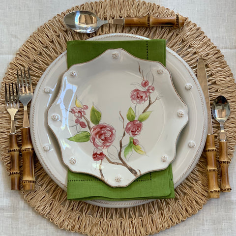 Festival Cocktail Napkin Set in Fern