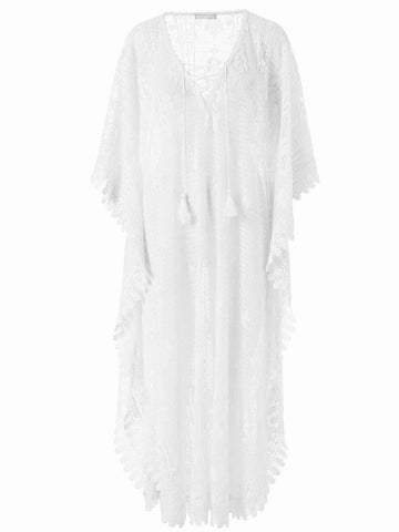 Nicki Maxi Kaftan in White