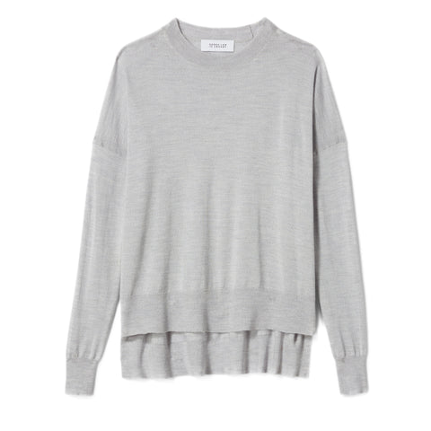 Mullholland Boxy Crewneck Sweater-Grey