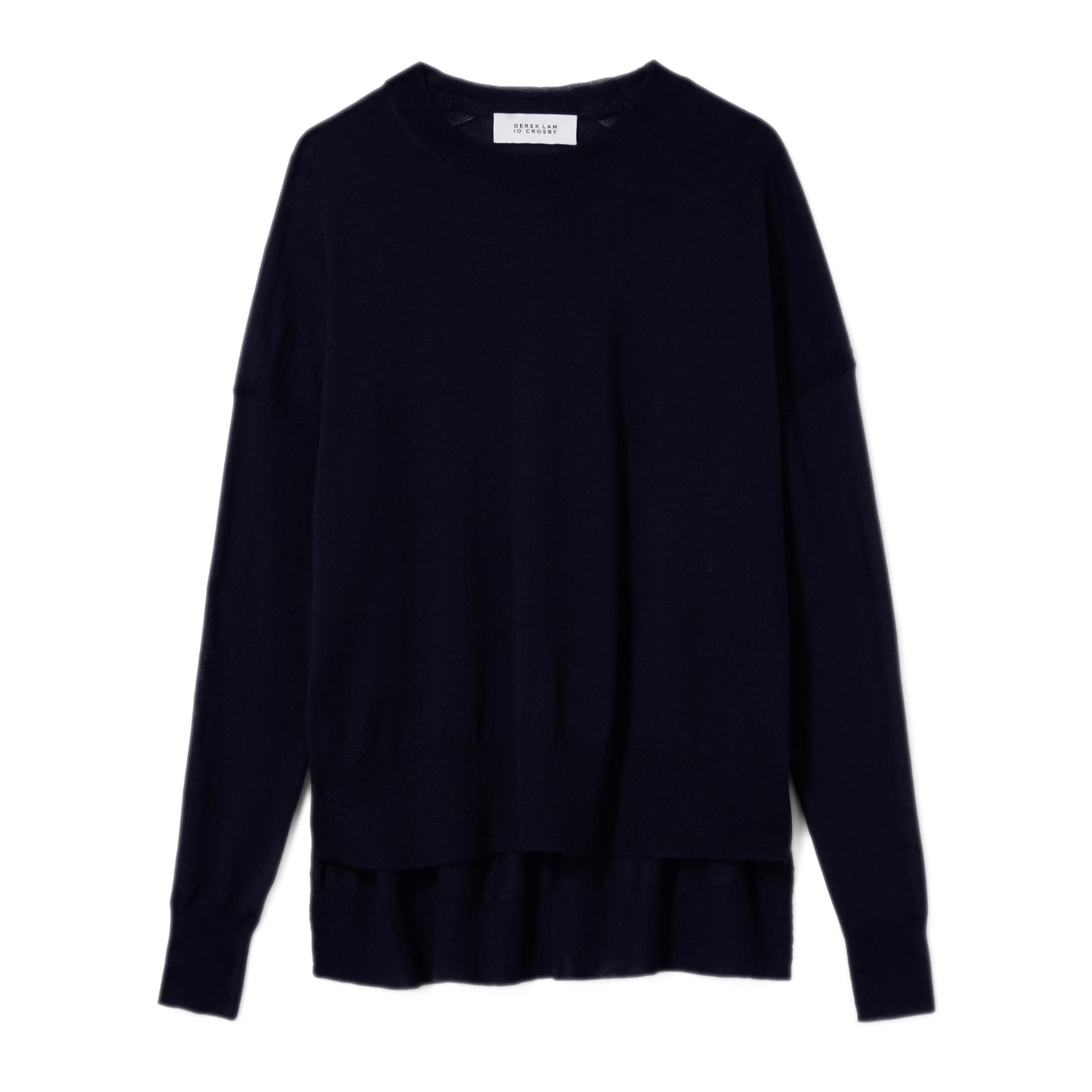 Mullholland Boxy Crewneck Sweater- Navy