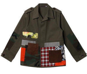 Patchwork Utility Jacket