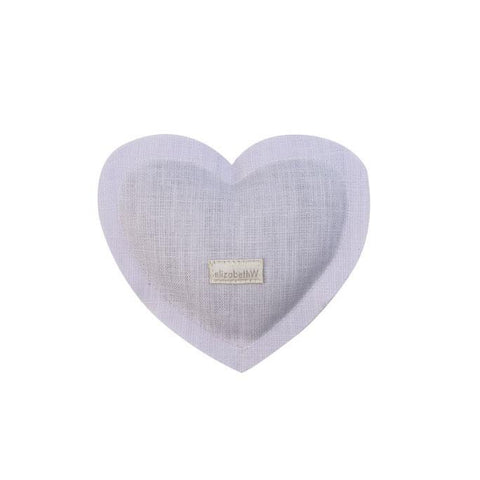 Linen Heart Sachet in Purple