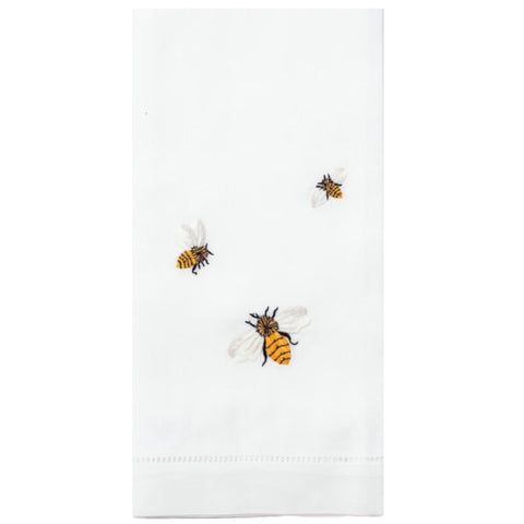 Embroidered Bees Everyday Towel