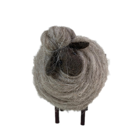 Large Handmade Woolen Sheep