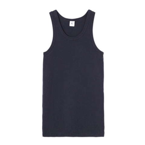 Crewneck Tank Top in Navy