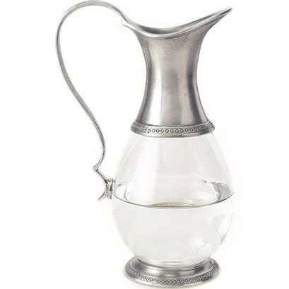 Pewter + Glass Pitcher