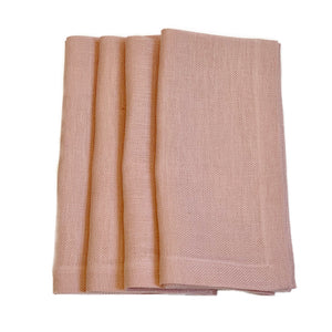 Italian Basketweave Napkin in Rose