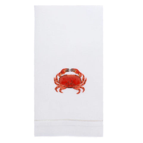 Embroidered Crab Everyday Towel