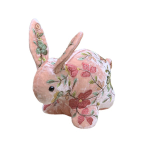 Abby Silk Velvet Bunny in Rose Quartz