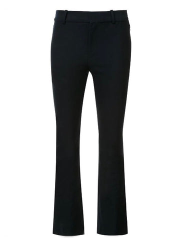 Crosby Cropped Flare Trouser in Black