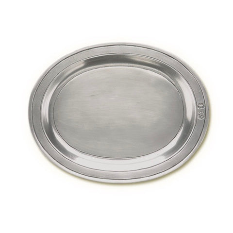 Pewter Oval Incised Tray